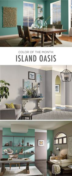 Combine ocean hues with modern decor and you get this relaxing blend of style and charm. Check out how you can use the Island Oasis shade to transform your living room space.