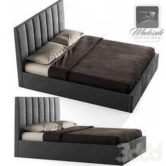 3d модели: Кровати - Templemore Queen Upholstered Panel Bed