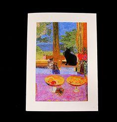 225 best cat art greeting cards images on pinterest cat lovers cat greeting cards fine art blank handmade pierre bonnard parody by deborah julian m4hsunfo