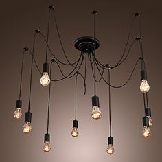 lámparas artísticas con 10 luces de diseño de lámparas - USD $ 279.99