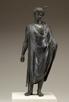 Mercury (Hermes), Roman statuette (bronze and silver), century AD, (Walters Art Museum, Baltimore). Roman Sculpture, Bronze Sculpture, Sculpture Art, Ancient Rome, Ancient Art, Ancient History, Greek Pantheon, Roman Artifacts, Roman Gods
