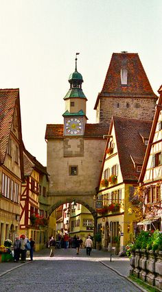 Rothenburg, Germany- beautiful walled city.