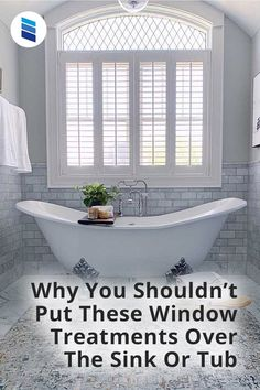 Tub and sink windows are exposed to more moisture than most other windows. Woven Wood Shades, Bamboo Shades, Bathroom Window Treatments, Bathroom Windows, Shoji Screen, Faux Wood Blinds, Mini Blinds, Roller Shades, Mid Century House