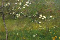 Waclaw Szymanowski  (polish, 1859-1930)  Blooming Apple Tree