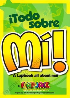 Todo Sobre Mi Spanish (All About Me) Lapbook Fun product from FlapJack-Ed-Resources on TeachersNotebook.com