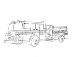 Fire Truck Coloring Pages Picture 2