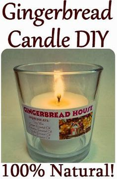 Maria Sself Chekmarev: Homemade Christmas Gift Idea: Gingerbread House Candle (All-Natural with Essential Oils). Home Candles, Diy Candles, Scented Candles, Candle Gifts, Candle Wax, Homemade Christmas Gifts, Homemade Gifts, Ginger Essential Oil, Essential Oils