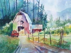 Easy Watercolor Paintings | ... Easy Approach to Starting a Watercolor Painting , instructed by Tom