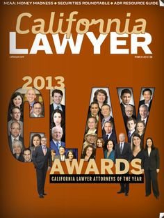 This is kind of fun... California Lawyer Magazine CLAY Awards Issue March 2013- Mitch named Litigation Lawyer of the Year :-)  http://www.nxtbook.com/nxtbooks/dailyjournal/calilawyer_201303/#/52