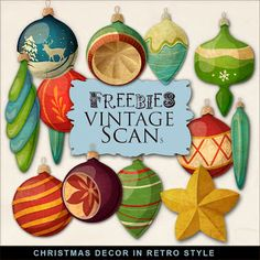 Freebies Christmas Decor in Retro Style