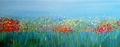 Wildflowers - SOLD Acrylic on Canvas - x Artist: Nancy Despins Wildflowers, Pear, Canvas, Prints, Artist, Blue, Painting, Tela, Wild Flowers
