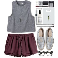 #645 Claire by blueberrylexie on Polyvore featuring H&M, Zara, Maison Margiela, Karen Kane, Madewell, esum, NARS Cosmetics and Christian Dior
