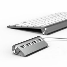 "Amazon.com : Satechi Premium 4 Port Aluminum USB Hub (9.5"" cable) for iMac, MacBook Air, MacBook Pro, MacBook, and Mac Mini : Computers & Accessories"