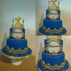 Royal gold Cake   Cake blue and gold,  King ♔ cake