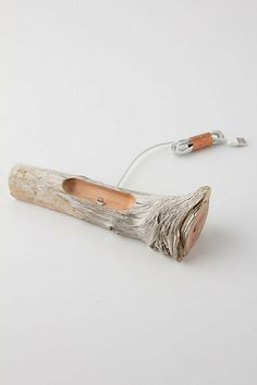 driftwood iphone 5 dock.