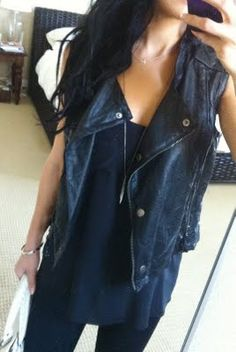 May finally wear my leather vest @Kaitlyn Marie Kyle
