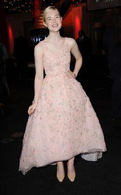 Elle Fanning  WHAT:    Oscar de la Renta  WHERE:    British Independent Film Awards, London  WHEN:    December 9, 2012