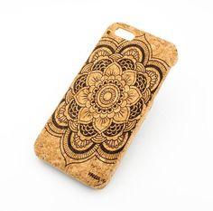 C-08+Cork+Case+für+Apple+Iphone+5/5+s+volle+Mandala+von+STUCHI