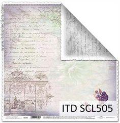 Dwustronny papier - Kolekcja Scrapbooking ITD Collection