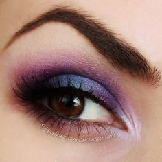 A concord grape smokey will bring out your brown eyes in no time. Wear it to date night with the step by step tutorial here.