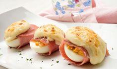 Receta de Huevos rellenos gratinados