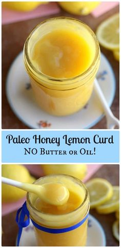 Paleo Honey Lemon Curd - NO oil or butter and only five ingredients needed!