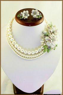 Tassel Jewelry, Fabric Jewelry, Bridal Jewelry, Beaded Jewelry, Handmade Jewelry, Polymer Clay Flowers, Polymer Clay Jewelry, Flower Jewellery For Mehndi, Flower Jewelry