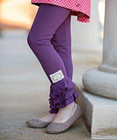 Love this Hortensia Triple Ruffle Leggings - Toddler & Girls on #zulily! #zulilyfinds
