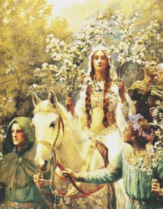 Queen Guinevere's Maying  PREMIUM Counted by TheArtofCrossStitch, $9.99