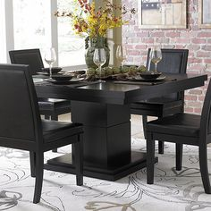 Kitchen Kitchenette Sets Round Dining Room Tables Dining Room intended for measurements 2000 X 2000 Black Dining Room Table Sets - If you're searching for Black Dining Room Table, Round Dining Room Sets, Pedestal Dining Table, Modern Dining Table, Dining Table In Kitchen, Round Dining Table, Wood Pedestal, Black Dining Set, Kitchen Carts