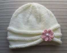 Knitting Pattern 134 Hat with a Large by handknitsbyElena on Etsy
