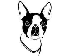 boston terrier silhouette clipart free clip art images bt rh pinterest com boston terrier clipart png boston terrier clip art free