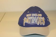 e502374037a New England Patriots Hat NFL Adjustable Cap Sewn Blue Logo Football Snapback   NewEnglandPatriots New England