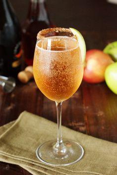 Sparkling Apple Pie Cocktail  - CountryLiving.com
