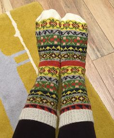 Land Girl Socks Pattern, project pic by Katiep43 - love these!!!
