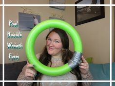 A little tutorial on how to turn a pool noodle into a wreath form! I hope you enjoy and give it a big thumbs up!! Thanks for watching! :) Follow me on Twitte...