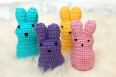 crocheted bunnies for Easter....free pattern from Ravelry (will have to register if you haven't already) to get the pattern