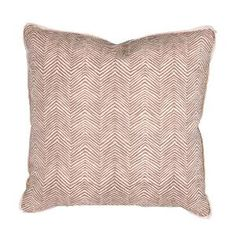 Quadrille Zig Zag Decorative Pillow in Taupe $275.00 (USD).  Product in photo is from www.wellappointedhouse.com