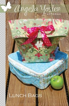 Lunch Bags Pattern - PDF Version