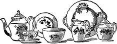 Vintage China Tea Set Image! - The Graphics Fairy