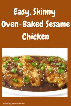 This easy Weight Watchers sesame chicken recipe is a perfect dish for a weeknight, whether for a Poulet Weight Watchers, Plats Weight Watchers, Weight Watchers Snacks, Weight Watchers Chicken, Skinny Recipes, Ww Recipes, Cooking Recipes, Healthy Recipes