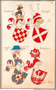 Bruderschaftsbuch des jülich-bergischen Hubertusordens Niederrhein, um 1500 Cod.icon. 318  Folio 59r