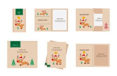 Brand identity deer christmas Stock Photography