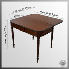 english game tables, antique | Antique English Folding Tea Games Sofa Card Table Mahogany Regency ...