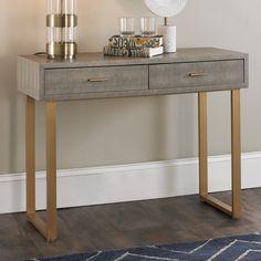 Modern Console Tables, Modern Desk, Modern Art, Luxury Furniture, Home Furniture, Mirrored Vanity Desk, Classic Consoles, Glass Top Desk, Home Office Desks