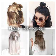 Frühlingsfrisuren Spring Time & Simple Hairstyles Spring is coming and it will be … Spring Hairstyles, Messy Hairstyles, Pretty Hairstyles, Rainy Day Hairstyles, Half Top Knot, Half Bun, Curly Hair Styles, Natural Hair Styles, Thin Hair Cuts