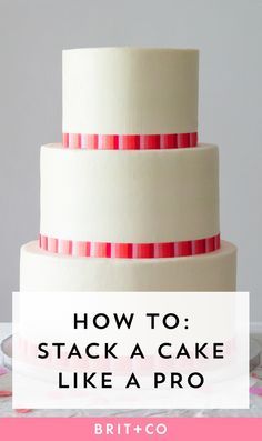 Wedding Budget DIY your own wedding cake for a budget-friendly wedding. - DIY your own wedding cake for a budget-friendly wedding. Easy Cake Decorating, Cake Decorating Supplies, Cake Decorating Techniques, Cake Decorating Tutorials, Professional Cake Decorating, Decorating Ideas, Stacking A Wedding Cake, Diy Wedding Cake, Stacking Cakes