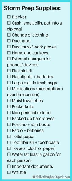 Must Have Hurricane Season Supply List - Mother Daughter Projects Family Emergency Binder, Emergency Preparedness Food, Emergency Preparation, Emergency Supplies, Survival Prepping, Emergency Kits, Hurricane Preparation List, Hurricane Supplies, Just In Case