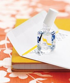 Clear nail polish to close envelopes that have lost their sealing capabilities...brilliant!