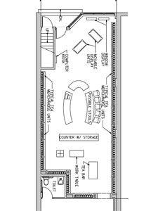 Clothing boutique floor plan design portfolio for Retail store floor plan